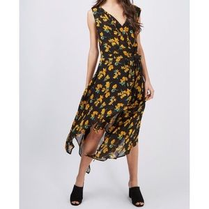 Topshop Floral Midi Wrap Dress